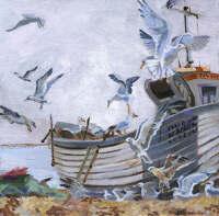 Gulls in Hastings