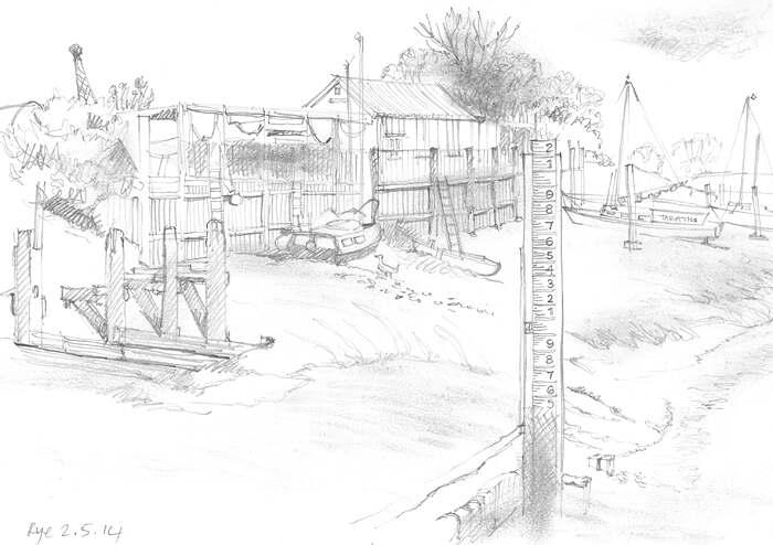 Rye river drawing